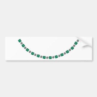 Einfach, Smaragd- und runden Diamanten abwechselnd Autoaufkleber