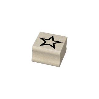 Einfach Symbole/Ikonen - STERN-Kontur + Ideen Gummistempel