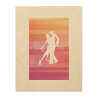 einfach Tango Holzleinwand