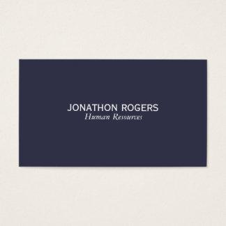 Einfach (tief Blau) Visitenkarte