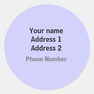 Einfache Adressen-Etiketten Runder Aufkleber