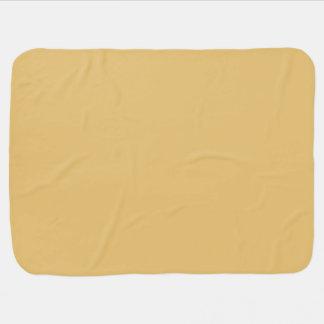 Einfache Aspen-Goldfarbe Baby-Decken