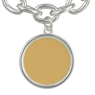 Einfache Aspen-Goldfarbe Charm Armbänder