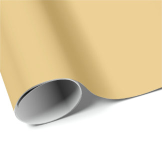 Einfache Aspen-Goldfarbe Geschenkpapier
