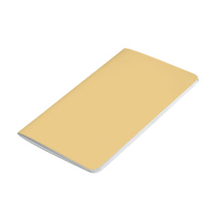 Einfache Aspen-Goldfarbe Notizbuch