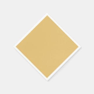 Einfache Aspen-Goldfarbe Papierservietten