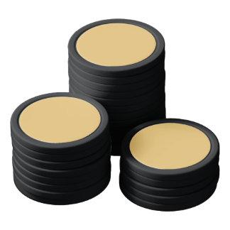 Einfache Aspen-Goldfarbe Poker Chip Sets