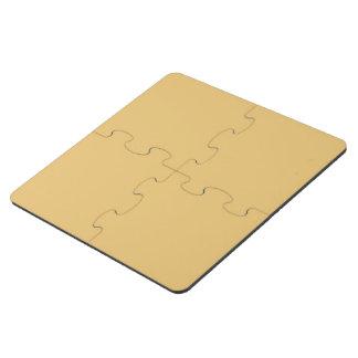 Einfache Aspen-Goldfarbe Puzzle Untersetzer