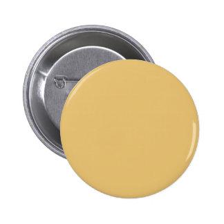 Einfache Aspen-Goldfarbe Runder Button 5,7 Cm