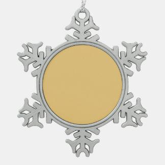 Einfache Aspen-Goldfarbe Schneeflocken Zinn-Ornament