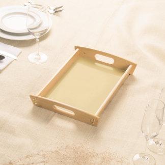 Einfache Aspen-Goldfarbe Serviertablett