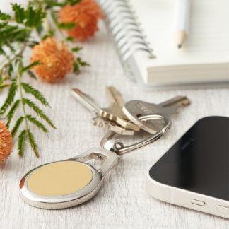 Einfache Aspen-Goldfarbe Silberfarbener Oval Schlüsselanhänger