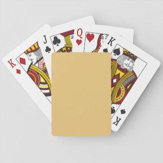 Einfache Aspen-Goldfarbe Spielkarte