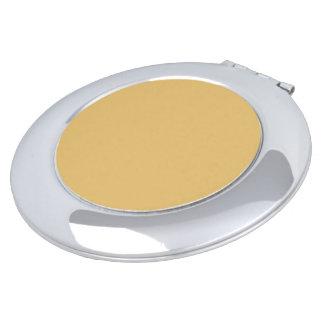 Einfache Aspen-Goldfarbe Taschenspiegel