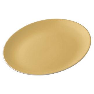 Einfache Aspen-Goldfarbe Teller Aus Porzellan