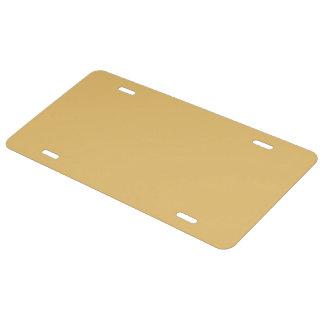 Einfache Aspen-Goldfarbe US Nummernschild