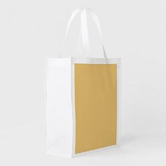 Einfache Aspen-Goldfarbe Wiederverwendbare Einkaufstasche