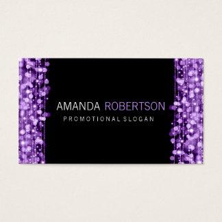 Einfache berufliche lila Lichter u. Glitzern Visitenkarte