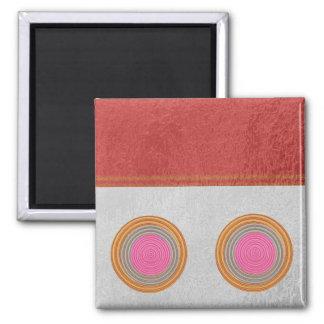 Einfache Blöcke n kreist - Silk Satin-Oberfläche Quadratischer Magnet