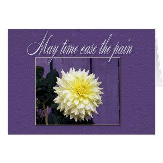Einfache BlumenBeileidskarte Grußkarte
