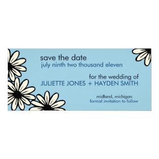 Einfache BlumenSave the Date Mitteilungen Individuelle Ankündigungen