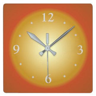Einfache bunte große Face>Kitchen Uhr Quadratische Wanduhr