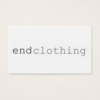 "Einfache Businees Karte ""Ende Kleidung """