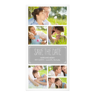 Einfache Collagen-Save the Date Foto-Karten Photo Karte