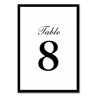 Einfache einfache Grenzdoppelseitige Tischnummern