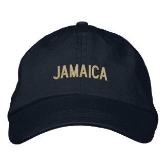 Einfache einfache Jamaika-Wort-Gewohnheits-Farbe Bestickte Baseballkappe