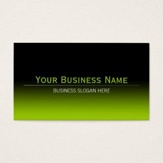 Einfache einfache moderne schwarze u. Limone grüne Visitenkarte