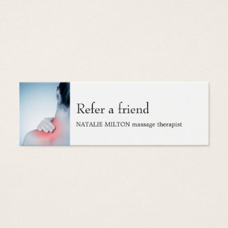 Einfache elegante blaue Massage Therapis Mini-Visitenkarten