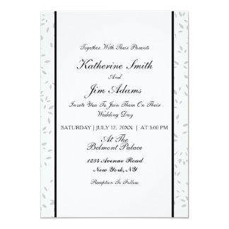 Einfache elegante Blumenhochzeitskarte 12,7 X 17,8 Cm Einladungskarte