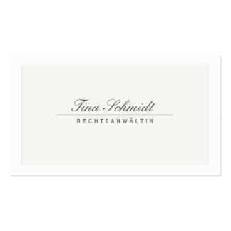 Einfache Elegante Rechtsanwalt Creme Visitenkarte