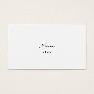 Einfache Elegante Rechtsanwalt Weiß Visitenkarte