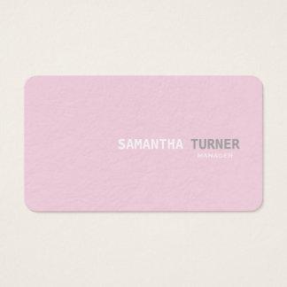 Einfache elegante rosa strukturierte berufliche visitenkarte