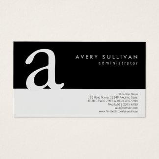 Einfache elegante Schwarz-weiße Visitenkarte