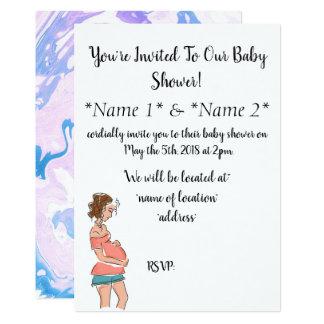 Einfache entworfene schwangere Mamma-Babyparty Karte