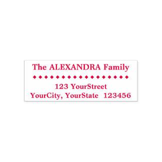 Einfache Familien-Nachname, Adresse, Permastempel