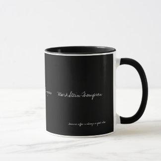 einfache feste Schwarzfarbe personalisiert mit Tasse
