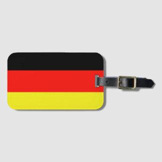 Einfache Flagge Deutschland Kofferanhänger