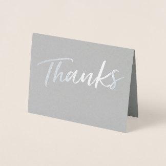 Einfache Folien-Dank-Karte | danken Ihnen zu Folienkarte