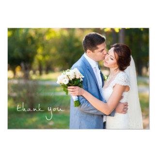Einfache Foto-Hochzeit danken Ihnen 12,7 X 17,8 Cm Einladungskarte
