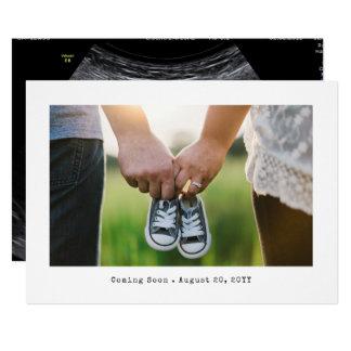 Einfache Foto-Schwangerschafts-Mitteilung 12,7 X 17,8 Cm Einladungskarte