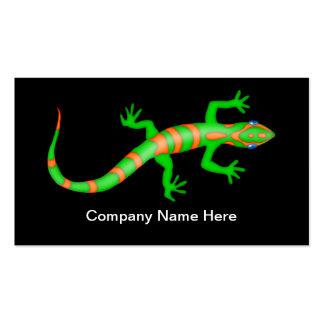 Einfache Gecko-Kontrollen-Geschäfts-Karten Visitenkarten Vorlagen
