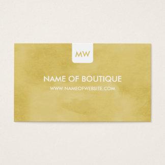 Einfache GoldrutenButike-Monogramm-sozial-Medien Visitenkarte