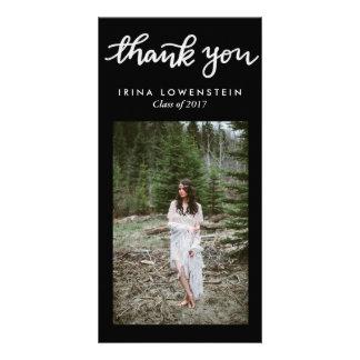 Einfache graduierte handgeschriebene danken Ihnen Karte