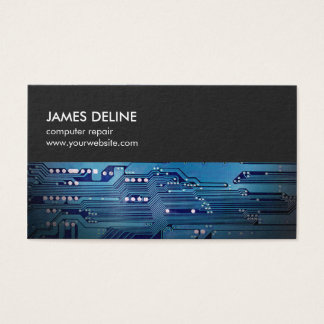 Einfache graue blaue visitenkarte