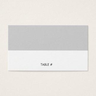 Einfache graue Platzkarten - flach Visitenkarte