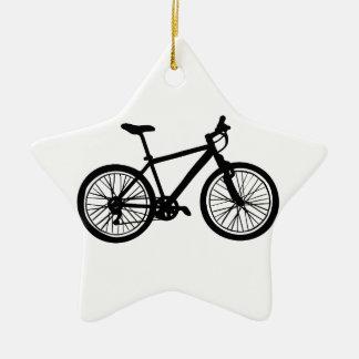 Einfache Hand gezeichnetes Gekritzel des Fahrrades Keramik Stern-Ornament
